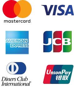 Logos internationaler Kreditkarten